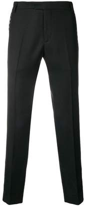 Les Hommes cropped eyelet-detail classic pants