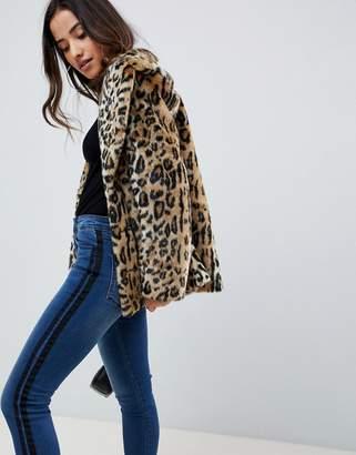 Asos Design DESIGN animal faux fur coat