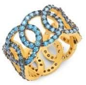 Freida Rothman Baroque Blues Giotto Crystal Ring