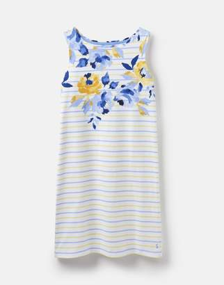 Joules Lemon Whitstable Floral 204554 Sleeveless Printed Jersey Dress Size 12