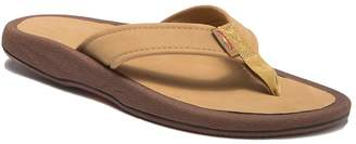 Rainbow Navigator Orthotic Leather Flip Flop