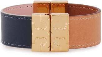 Tory Burch Gold-tone Leather Bracelet