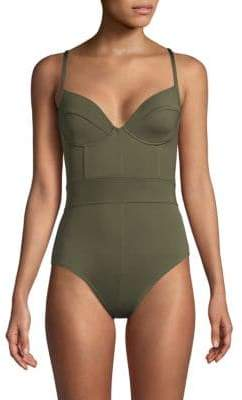 Proenza Schouler One-Piece Underwire Swimsuit
