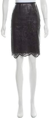 Sacai Luck Knee-Length Laser Cut Skirt