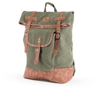 Foster & Rye Insulated Canvas Cooler Adventure Backpack in Green