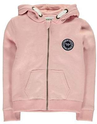 Soul Cal SoulCal Kids Girls Cal Zip Hoodie Hoody Hooded Top Long Sleeve Full