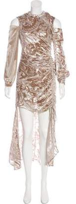Self-Portrait Silk-Blend Gown