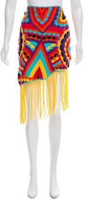 Camilla Fringe-Accented Crochet Skirt