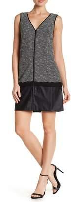 Tart Corin Zip Front Faux Leather Dress