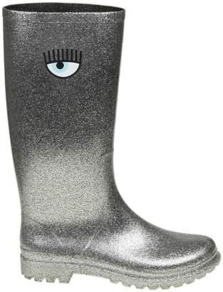 Chiara Ferragni Glittered Rainproof Boots Color Silver