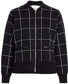 3.1 Phillip Lim Women's Double-Faced Check Bomber