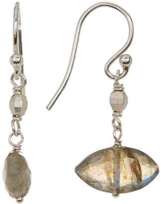 Chan Luu Faceted Marquise Labradorite Bead Drop Earrings