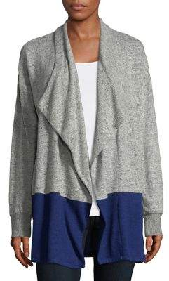 Tommy Hilfiger Two-Tone Open Cardigan