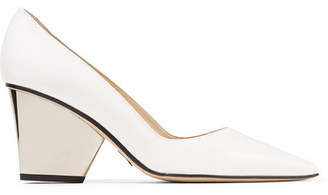 Paul Andrew Lotta Patent-leather Pumps - White