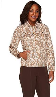 Liz Claiborne New York Button Front Jean Jacket