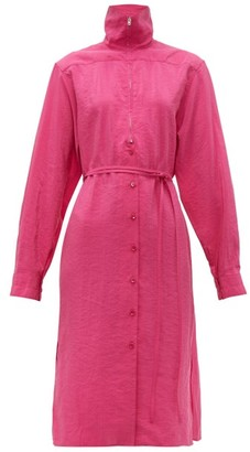 Lemaire Zipped Silk Blend Dress - Womens - Pink
