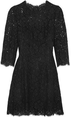 Dolce & Gabbana - Guipure Lace Mini Dress - Black $2,745 thestylecure.com