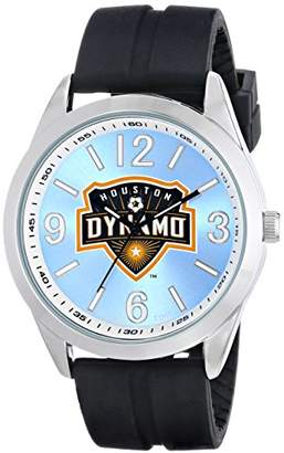 Game Time Men's MLS-VAR-HOU Varsity Analog Display Japanese Quartz Black Watch