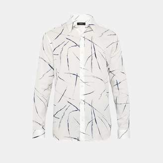 Theory Tencel-Cotton Abstract-Print Shirt