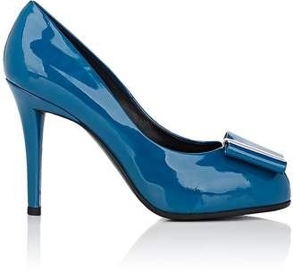 Roger Vivier WOMEN'S BOW-DETAILED PATENT LEATHER PLATFORM PUMPS