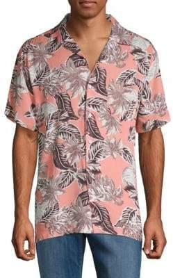 Saks Fifth Avenue Tropical Printed Button-Down Shirt