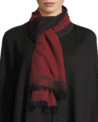 Eileen Fisher Organic Cotton Reversible Jacquard Scarf