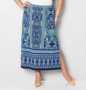 Avenue Striped Paisley Skirt