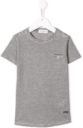 Paolo Pecora Kids monochrome striped T-shirt