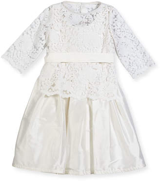 Isabel Garreton Fable Silk Dress w/ Lace Overlay Top, Size 4-6