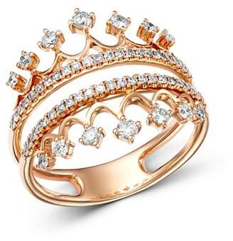 Bloomingdale's Diamond Crown Statement Ring in 14K Rose Gold, 0.50 ct. t.w. - 100% Exclusive