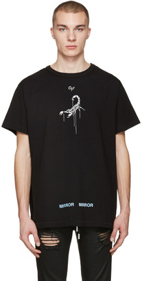 Off-White Black Othelo's Scorpion T-Shirt $305 thestylecure.com