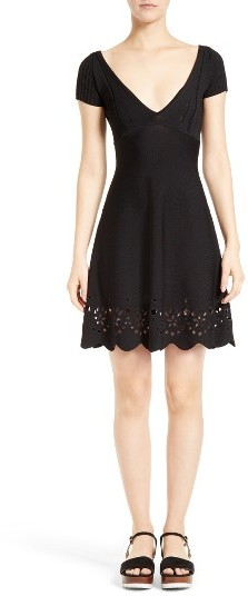 RED ValentinoWomen's Red Valentino Embroidered Knit Dress