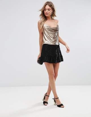 Wyldr Sedona Textured Mini Skirt With Frill