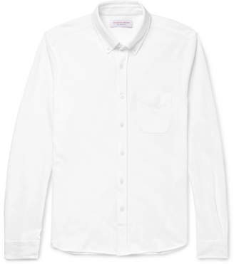 Orlebar Brown Oliver Slim-Fit Button-Down Collar Cotton-Piqué Shirt