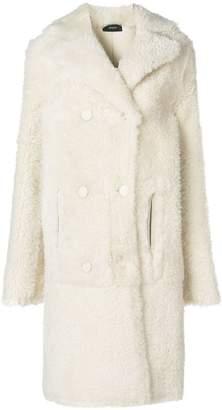 Joseph long fur coat