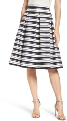 Women's Eliza J Stripe Jacquard Midi Skirt $168 thestylecure.com