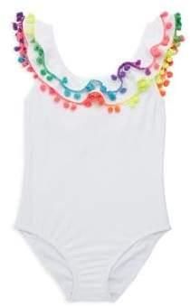 Pilyq Toddler's, Little Girl's & Girl's Pom-Pom One-Piece Swimsuit