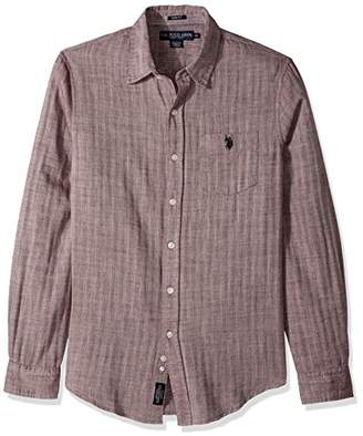 U.S. Polo Assn. Men's Slim Fit Solid Long Sleeve Sport Shirt