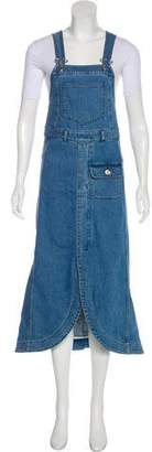 See by Chloe Denim Midi Dress w/ Tags