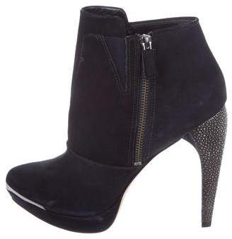 Herve Leger Suede Ankle Boots