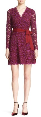 Women's Diane Von Furstenberg 'Shaelyn' Lace Wrap Dress $498 thestylecure.com