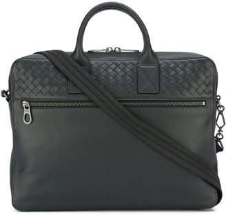 Bottega Veneta interlaced detail briefcase