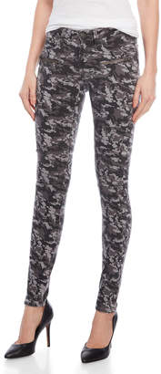 The Kooples Sport Grey Camouflage Moto Skinny Jeans