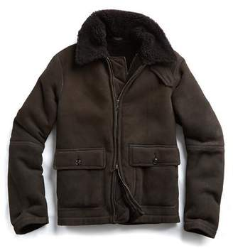 Todd Snyder Shearling Flight Jacket in Brown