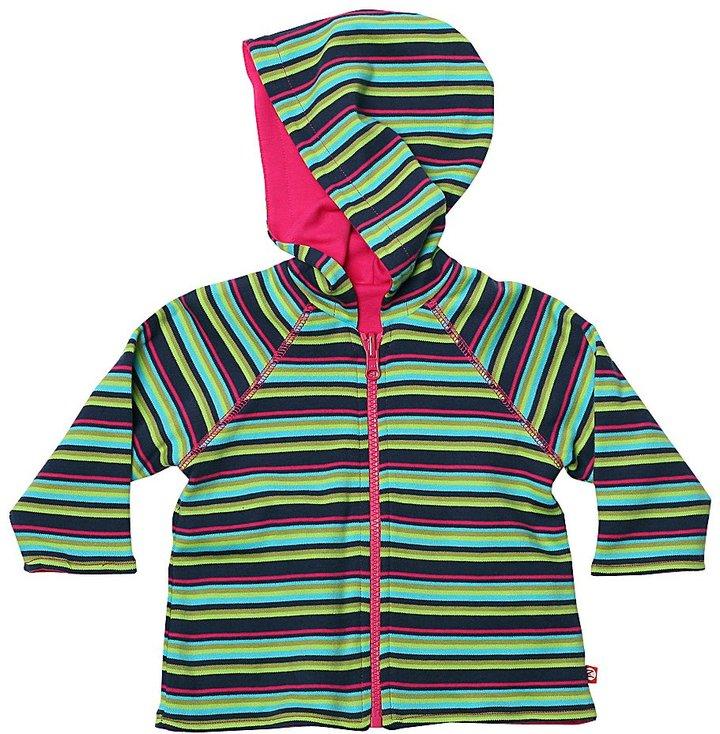Zutano Midnight Stripe Reversible Zip Hoodie