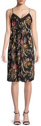 Needle & Thread Rainbow Rose Slip Dress