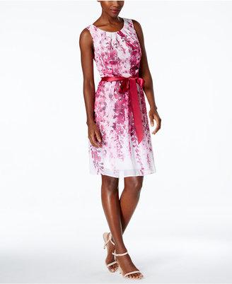 Connected Floral-Print A-Line Dress $79 thestylecure.com