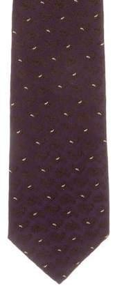 Isaia Jacquard Paisley Silk Tie
