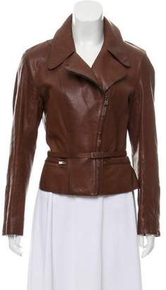 Hermes Collared Leather Jacket
