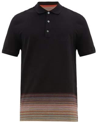 2b3951abfe3a7f Missoni Space Dyed Hem Cotton Pique Polo Shirt - Mens - Black
